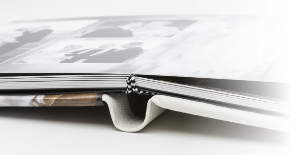 Built to last - our lay flat, thicky sturdy album pages.