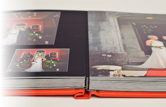 Superior matted and digital combination wedding albums